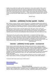 Výroční zpráva 2001 - Jizersko-ještědský horský spolek