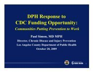 DPH Response to CDC Funding Opportunity: - Department of Public ...