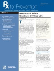 Health Reform and the Renaissance of Primary Care
