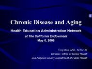 Chronic Disease and Aging - Department of Public Health - Los ...
