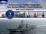 Architecture for Coalition Cooperation Navy Surface Warfare ...