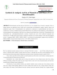 Synthesis & Analgesic Activity of Mannich & Schiff Bases of 1,5 ...