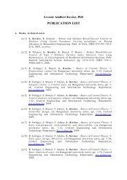 PUBLICATION LIST - IFAC TC Websites