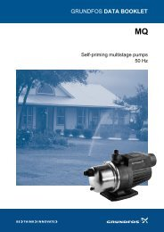 GRUNDFOS DATA BOOKLET - SCL Water