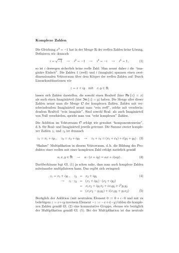 Komplexe Zahlen - BOPS