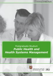 Public Health and Health Systems Management