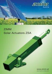 with ZIMM Solar Actuators.