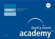 Skrypty Zaawansowany Kwadrant Górny - David G. Simons Academy
