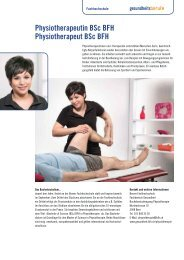 Physiotherapeutin BSc BFH Physiotherapeut BSc BFH