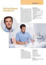 Fachfrau/Fachmann Gesundheit EFZ - Gesundheitsberufe Bern