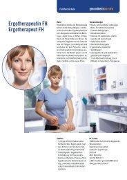 Ergotherapeutin FH Ergotherapeut FH - Gesundheitsberufe Bern