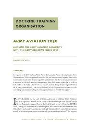 Army Aviation 2030: Aligning the Army Aviation ... - Australian Army
