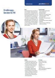 Ernährungs- berater/in FH - Gesundheitsberufe Bern