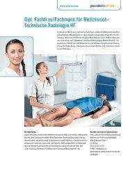 Dipl. Fachfrau/Fachmann für Medizinisch- Technische Radiologie HF
