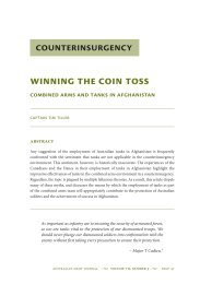 Winning the COIN Toss: Combined Arms and ... - Australian Army
