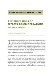 The Dimensions of Effects-based Operations: A ... - Australian Army
