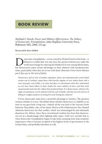 Power and Military Effectiveness: The Fallacy of ... - Australian Army