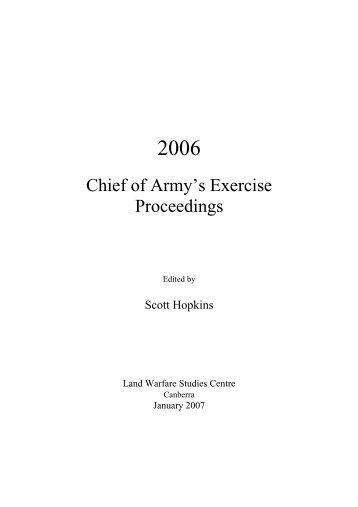 View the pdf - Australian Army