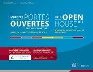 PORTES OUVERTES HOUSE - University of Ottawa - Université d ...