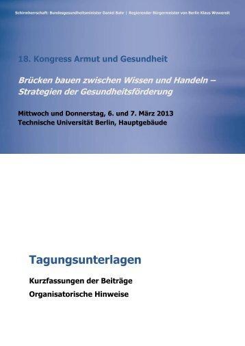 9 free Magazines from ARMUT.UND.GESUNDHEIT.DE