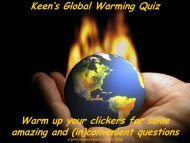 Keen's Global Warming Quiz Warm up your clickers for ... - Icecap