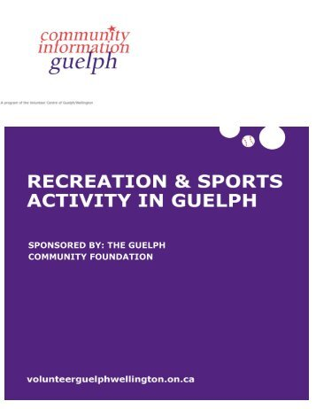 sponsored by: the guelph community foundation - Volunteer Centre ...