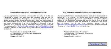 Inscription au grade et demande de diplôme - University of Ottawa