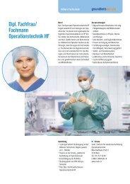 Dipl. Fachfrau/ Fachmann Operationstechnik HF