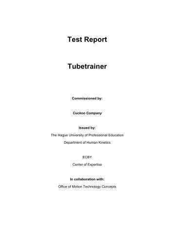Test Report - XCO TRAINER