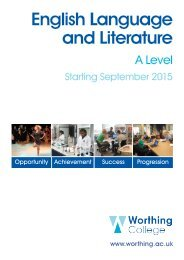 English Language & Literature AS/A Level - Worthing College