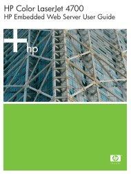 HP Color LaserJet 4700 HP Embedded Web Server User Guide ...