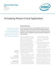Virtualizing Mission-Critical Applications