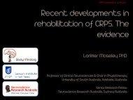 CRPS Symposium Recent Developments Evidence ... - Body in Mind