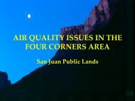 Four-Corners regional air quality issues