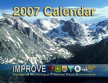 2007 IMPROVE Calendar (PDF, 7 MB) - Colorado State University