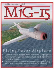 MiG-15 Flying Paper Airplane Model