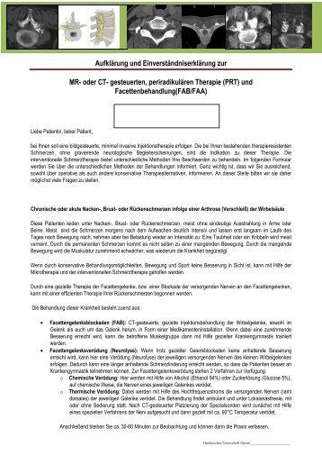 Bochum, 28 - Praxis für interventionelle Schmerztherapie OWL