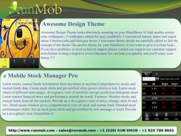 Awesome Design Theme e Mobile Stock Manager Pro - RunMob