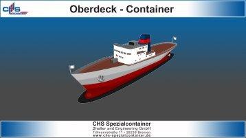 Infoblatt Oberdeck-Container - bei CHS Spezialcontainer