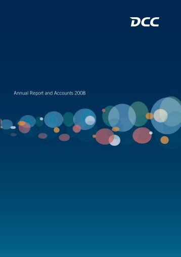 Annual Report and Accounts 2008 - DCC plc