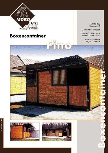 Fino Boxencontainer - mobo-bau
