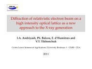 Diffraction of relativistic electron beam on a high intensity optical ...