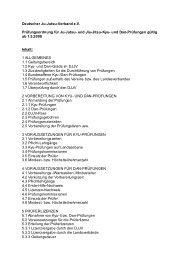 Deutscher Ju-Jutsu-Verband e.V. Prüfungsordnung für Ju-Jutsu - DJJV