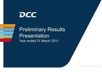 Preliminary Results Presentation