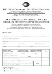 registration and accommodation form formulaire ... - AMCA, spol. s r.o.