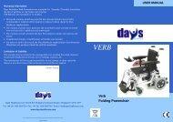 Verb Folding Powerchair - Days Healthcare