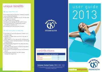 Download brochure - Fedhealth