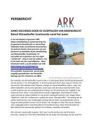 PERSBERICHT - ARK Natuurontwikkeling