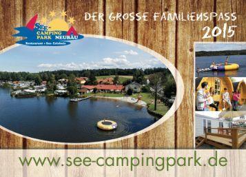 Hausprospekt See-Campingpark Neubäu am See 2015