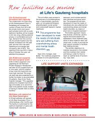 News Update - Spring 2010 - Life Healthcare